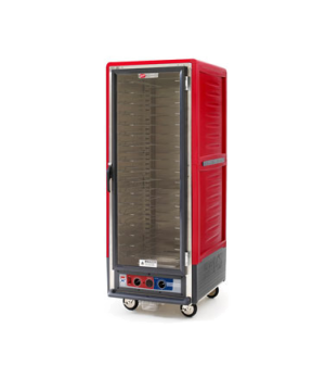 C53, Moisture Module, Red, Full height, full length clear door, Universal slides