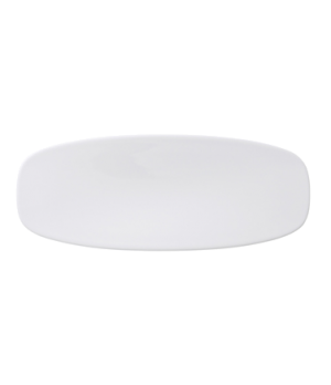 "Platter, 7-3/4"" x 3-3/4"", oval, coupe, premium porcelain, Affinity"