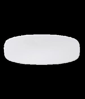 "Platter, 7-3/4"" x 3-3/4"", oval, coupe, premium porcelain, Affinity"