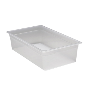 "Food Pan, full size, 6"" deep, translucent polypropylene, NSF"