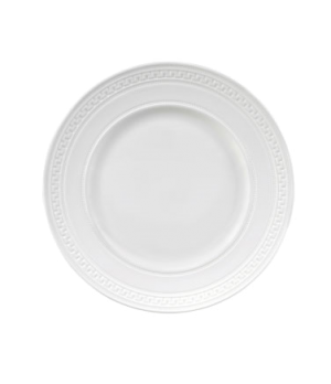 Intaglio Plate, charger, dishwasher safe, bone china, white