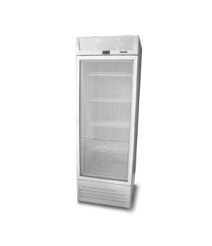 Upright Freezer, reach-in display, one-section, standard depth, hinged glass doo