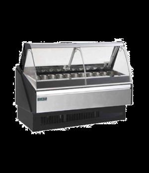 """Hydra Kool Gelato Case, service type, multiplexible, 40-3/8""""W x 43-3/8""""D x 48-7/"""