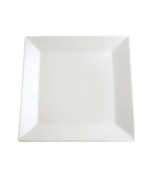 "Plate, 10"" (25 cm), square, coupe, Le Buffet, white"