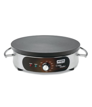 "Crepe Maker, electric, 16"" cast-iron cook surface, heat-resistant carrying handl"