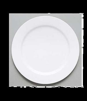 """Plate, 11-3/8"""", flat, premium porcelain, Easy White"""