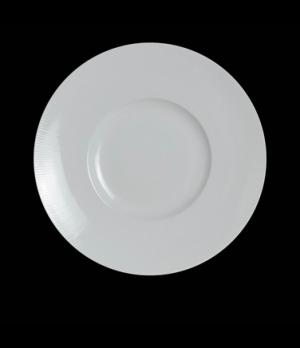 "Signature Plate, 12"" dia. (6-1/4"" well), round, porcelain, Sonata, Rene Ozorio ("