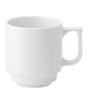 Mug, 10 oz. (296ml), handled, stacking, microwave & dishwasher safe, Pure White