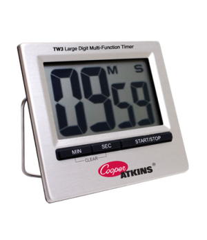 "Timer, large digit with 2-1/2"" x 1-1/2"" LCD screen, belt clip, easel stand, wire"