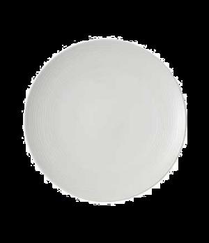 "Plate, 11-3/8"", coupe, flat, premium porcelain, Sedona"