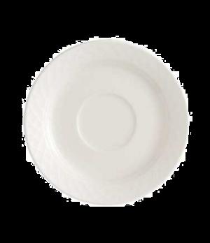 """Saucer, 5-7/8"""", premium porcelain, Bella"""