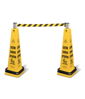 "Cone Barricade System, includes: (1) 36"" four-sided 6276 safety cone, (1) steel"