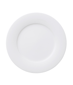"Plate, 12-1/2"", flat, premium porcelain, Affinity"