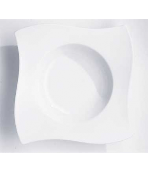 "Pasta Plate, 11"" x 11"", 24 oz., premium porcelain, New Wave"