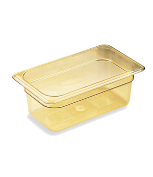 "H-Pan™, 1/4 size, 6"" deep, hi-temp plastic, polysulfone, non-stick surface, won'"