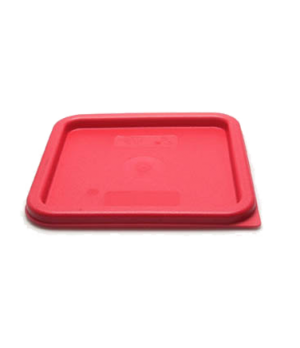 Cover, for 6 & 8 qt. containers, winter rose polyethylene, NSF
