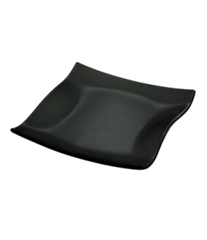 "Plate, 8-1/4"", square, glass, black, Cera"