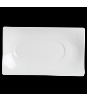 "Saucer, 8"", rectangular, double well, 1995501, porcelain, Rene Ozorio, Accessori"