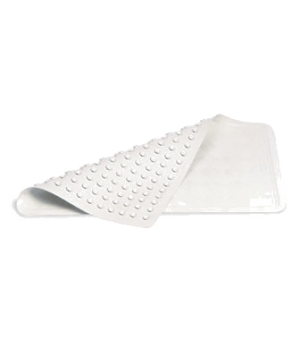 "Safti-Grip® Bathmat, 22-1/2""L x 14""W, medium, suction-backed, white"