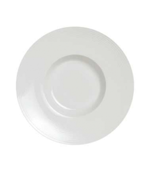 "Pasta Plate, 13-3/4 oz., 11-3/4"" dia. (6"" well), round, wide rim, porcelain, Ren"