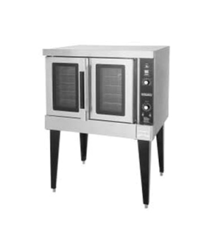 Convection Oven, Nat. Gas, 1-deck, 60 minute timer, solid state controls - 500°F