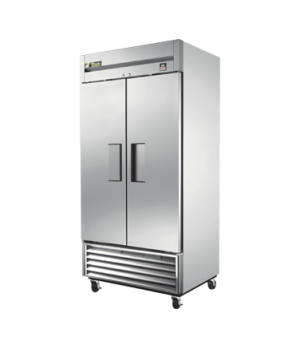 Refrigerator, Reach-in, two-section, (2) stainless steel doors, stainless steel