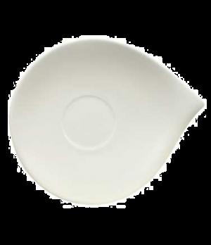 """Saucer, 8-1/4"""" x 7-1/8"""", (cup OCR 1240), premium porcelain, Flow"""