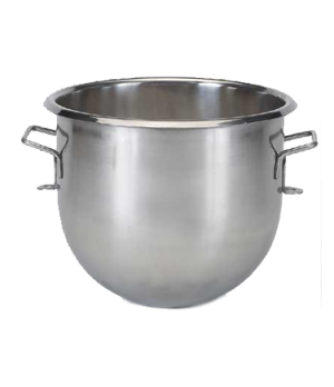 Bowl, 20 quart, stainless steel