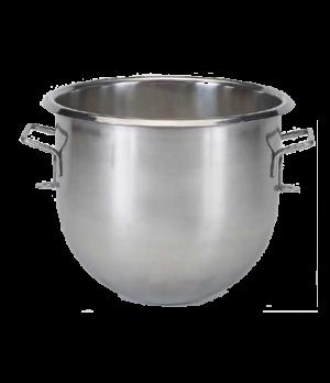 Bowl, 20 quart, stainless steel