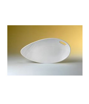 "Platter, 14-1/2"" dia., oval, Distinction, Organic, Organics White (priced per ca"