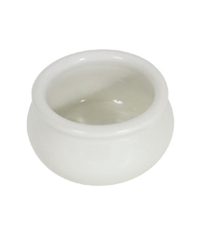 "Butter Pot, 2 oz., 2-1/4"" x 1-1/4"", stoneware, white"