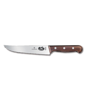 "Chef's Knife, 7"" wavy edge, 1-1/2"" width at handle, rosewood handle"