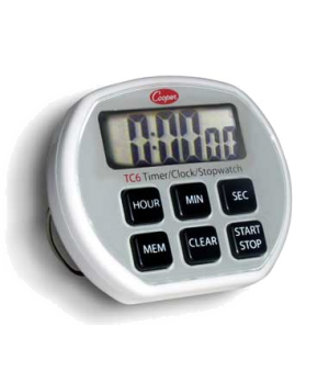 Digital Timer/Clock/Stopwatch, 24-hour, counts up and down in one second increme