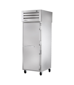 SPEC SERIES® Pass-thru Refrigerator, one-section, stainless steel front, aluminu