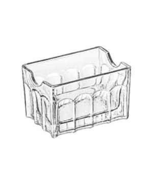 "Sugar Packet Holder, 3-1/2"", glass, GIBRALTAR®, (H 2-1/8""; T 3-1/2""; B 3-1/2""; D"