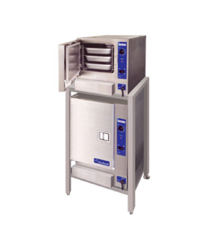 "SteamChef""¢ 3 & 6 Convection Steamer, Gas, boilerless, double stacked, on ES2630"