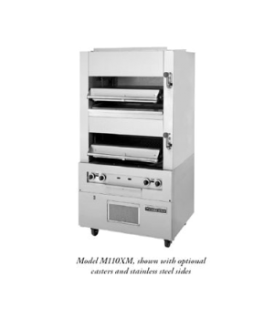 Master Series Double Broiler, deck-type, gas, two infrared decks with enclosed b