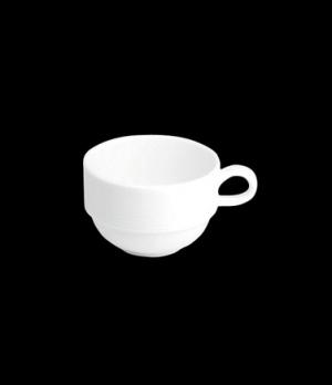 "Ad Cup, 3 oz., 3-5/8""W x 1-7/8""H, stackable, porcelain, Tria, Wish (minimum = ca"