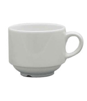 Cafe Cup, 7-1/2 oz. (0.22 liter), stacking, scratch resistant, oven & microwave