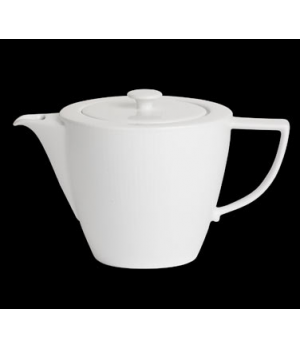 Teapot, 18-1/2 oz., with lid, porcelain, Sonata, Rene Ozorio (priced per case, p