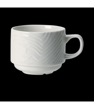 Cup, 6 oz., stackable, ceramic, Distinction, Optik™ (UK stock item) (minimum = c