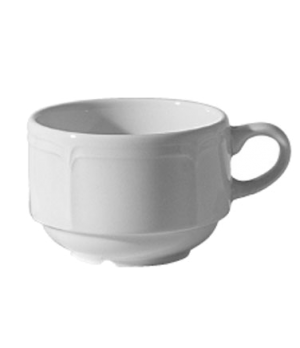 Cup, 7-1/2 oz. (0.22 liter), stacking, scratch resistant, oven & microwave safe,