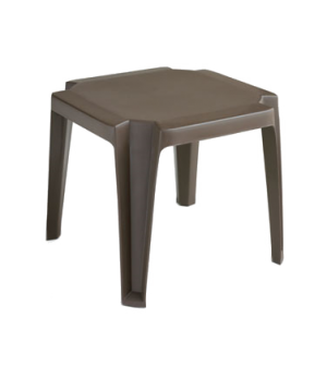 "Miami Outdoor Low Table, 17"" x 17"", square, UV resistant resin, bronze mist"