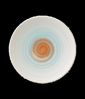 """Plate, 6-1/4"""" dia., round, flat, coupe, premium porcelain, Amarah Aquamarine"""