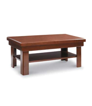 Induction Table, solid maple table (standard walnut color) with ceramic counter