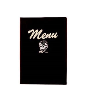 "Menu Cover, 8-1/4"" x 12"", double, cover includes printed menu inserts, heat-seal"