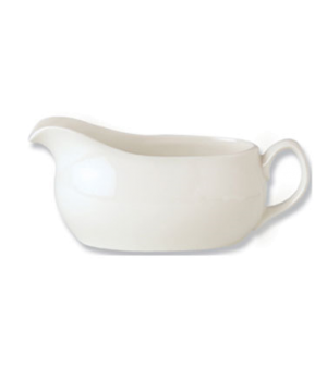 Atlanta Sauce Boat, 13 oz., vitrified china, Performance, Ivory, Claret (priced