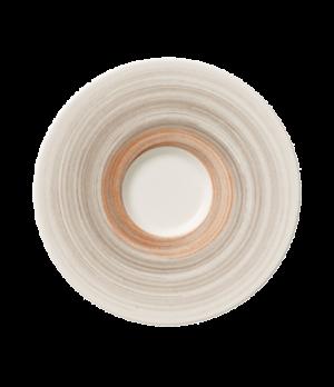 """Saucer, 6-2/3"""" dia., round, premium porcelain, Amarah Taupe"""