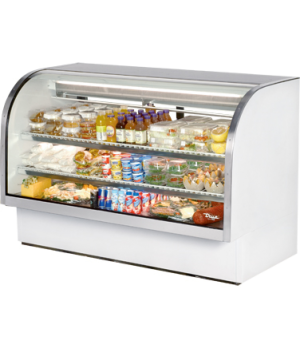 "Curved Glass Deli Case, 72-1/8""L, service type, self-contained refrigeration, gr"