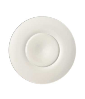 "Plate, 11-3/8"" x 5-3/4"" well, flat, premium porcelain, Marchesi"